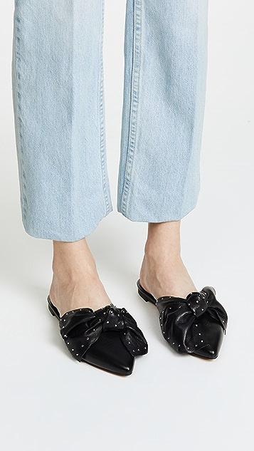 Rebecca Minkoff Alexis Stud Mule Slippers