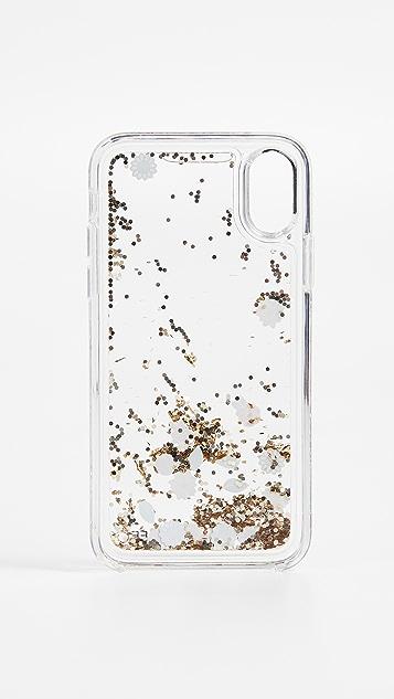 Rebecca Minkoff Garden Party Glitterfall iPhone X Case