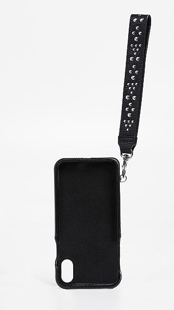 Rebecca Minkoff Faux Leather Wristlet iPhone X Case