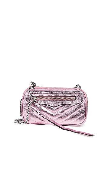 Rebecca Minkoff Chevron Double Zip Crossbody Bag