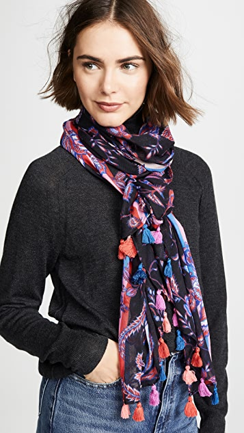 Rebecca Minkoff Hypnotic Floral Oblong Scarf