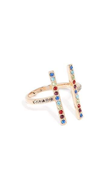 Rebecca Minkoff Parallel Lines Ring