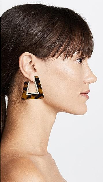 Rebecca Minkoff Полимерные треугольные серьги-кольца