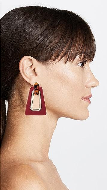 Rebecca Minkoff Trapezoid Resin Statement Earrings
