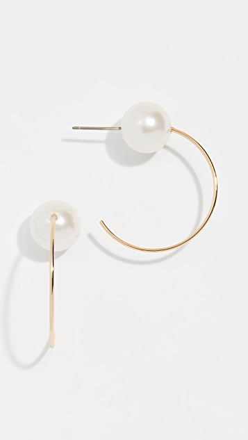 Rebecca Minkoff Sophia Small Hoop Earrings