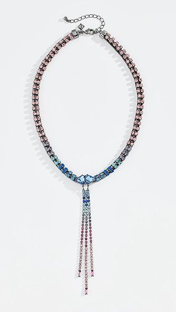 Rebecca Minkoff Gemma Crystal Fringe Necklace