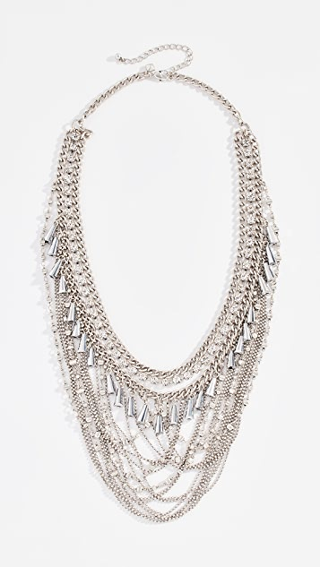 Rebecca Minkoff Crystal & Chain Drama Necklace