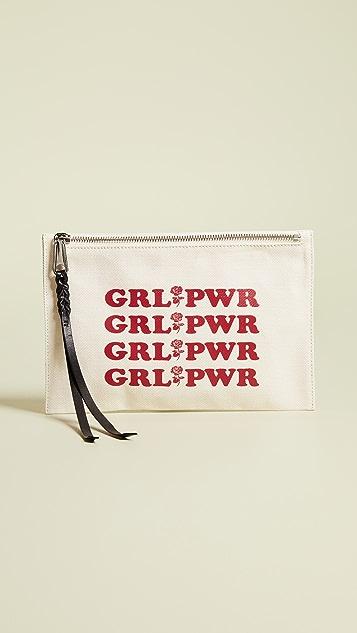 Rebecca Minkoff Girl Power Medium Zip Pouch