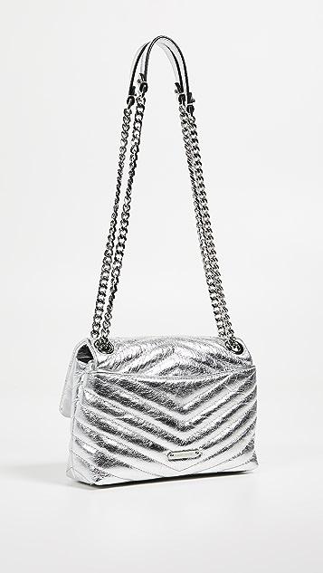 Rebecca Minkoff Edie Quilted Metallic Crossbody Bag