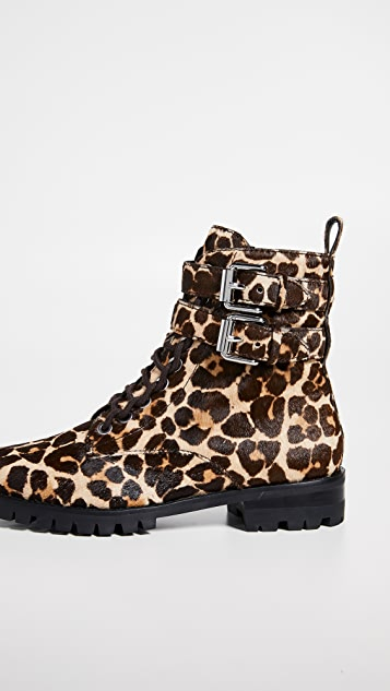 Rebecca Minkoff Jaiden Leopard Combat Boots