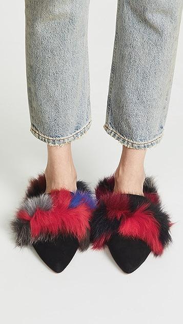 Rebecca Minkoff Roree Fur Mules