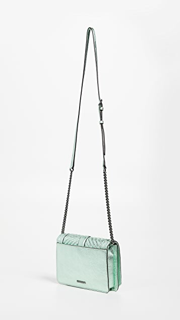 Rebecca Minkoff Chevron Quilted Love Cross Body Bag