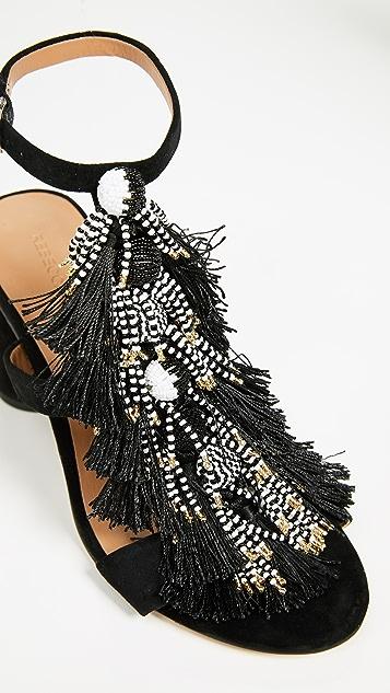 Rebecca Minkoff Alnie Block Heel T Strap Sandals