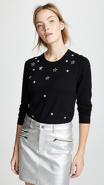 Rebecca Minkoff Lilita Sweater with Star Embroidery