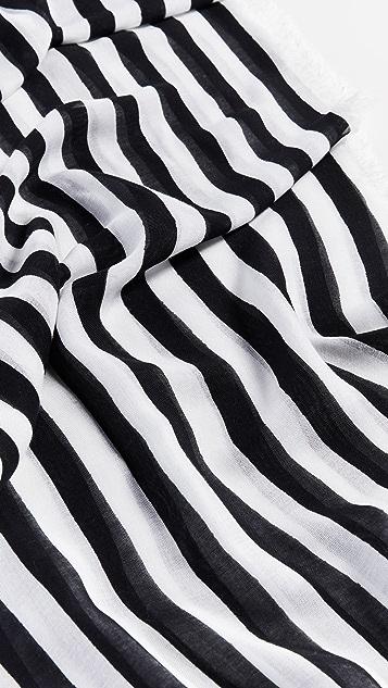 Rebecca Minkoff Gerber Stripe Large Square Scarf