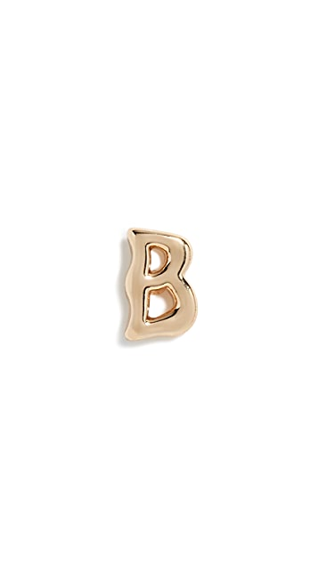 Rebecca Minkoff Initial Single Stud Earrings