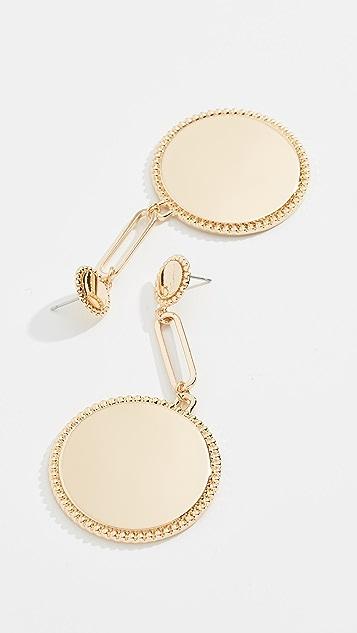 Rebecca Minkoff Double Medallion Drop Earrings