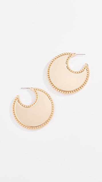 Rebecca Minkoff Bead Edge Hoop Earrings