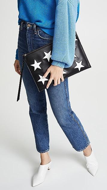 Rebecca Minkoff Multi Star Large Zip Pouch