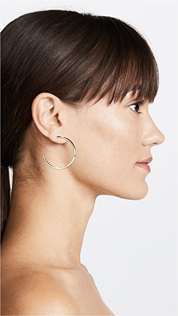 Rebecca Minkoff Pave Ball Topped Hoop Earrings