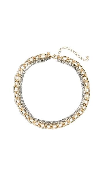 Rebecca Minkoff Tubular Multi Chain Necklace