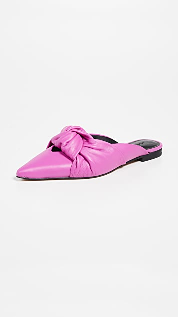 Rebecca Minkoff Coretta Point Toe Mules - Fuchsia