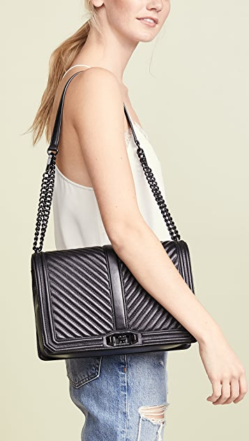 super cute save off fashion style Rebecca Minkoff Chevron Jumbo Love Cross Body Bag | SHOPBOP