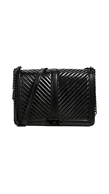 Rebecca Minkoff Chevron Jumbo Love Cross Body Bag