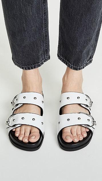 Rebecca Minkoff Vachel 双固定带无跟便鞋