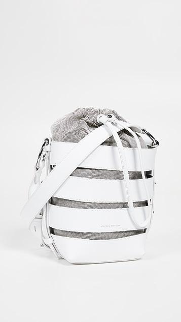 Rebecca Minkoff Cage Convertible Bucket Bag - Optic White