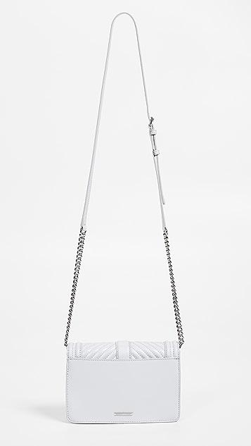 Rebecca Minkoff Chevron Quilted Small Love Crossbody Bag