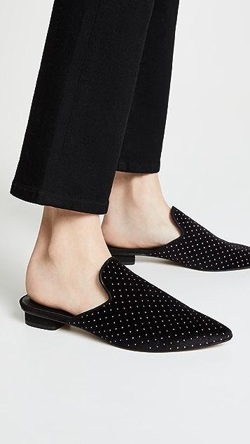 Rebecca Minkoff Chamille 天鹅绒穆勒鞋