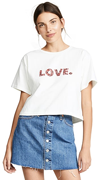 Rebecca Minkoff Love Floral Cropped Tee