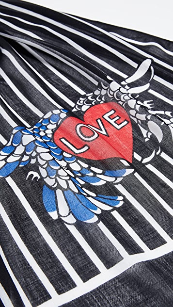 Rebecca Minkoff Love Birds Oblong Scarf