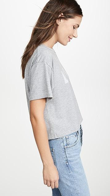 Rebecca Minkoff Светоотражающая укороченная футболка Love Wesley