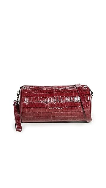 Rebecca Minkoff Luxe Croco Barrel Crossbody Bag