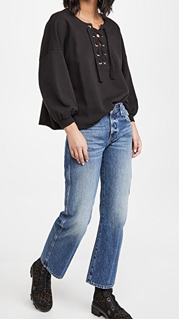 Rebecca Minkoff Lace Up Sweatshirt