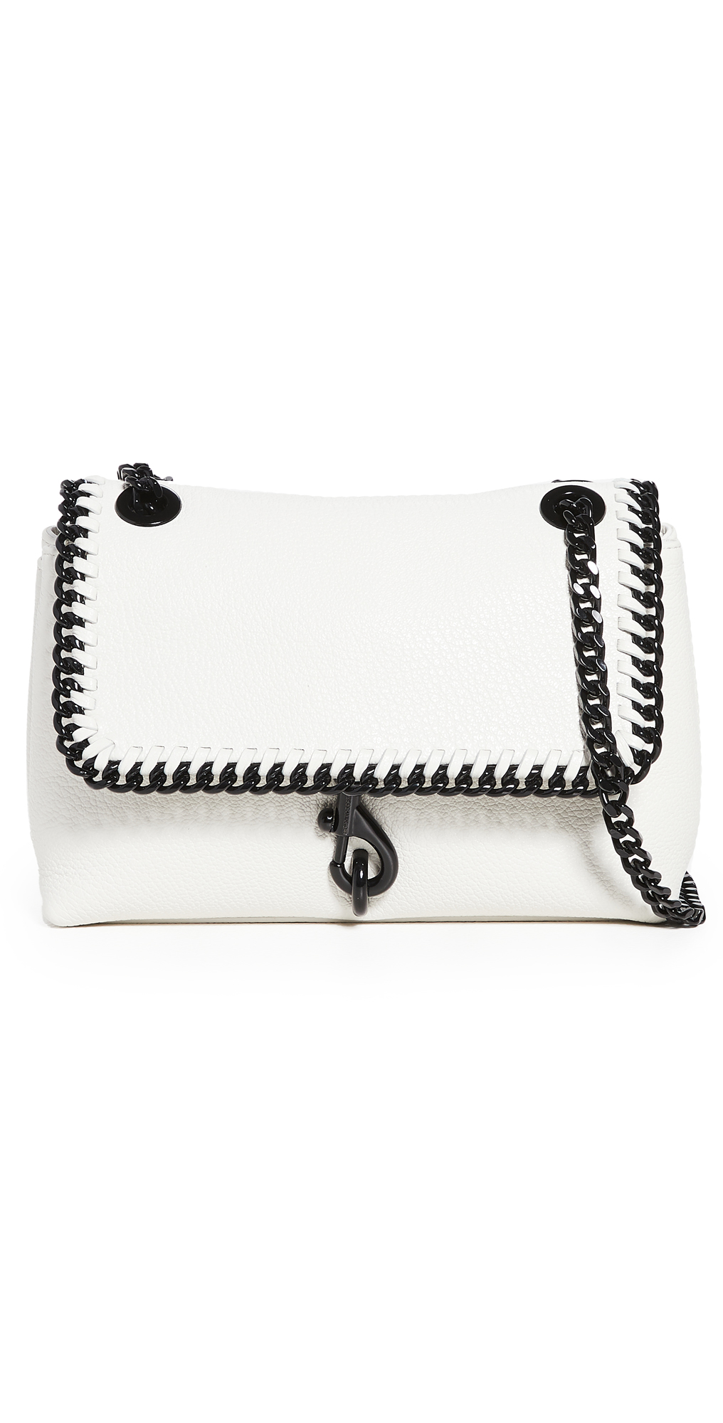 Rebecca Minkoff Edie Crossbody With Woven Chain In Plaster