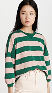 Rebecca Minkoff Bold Stripe Rosie Sweatshirt