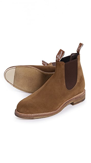 R.M. Williams Gilchrist Suede Chelsea Boots