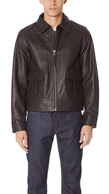 R.M. Williams Short Leather Drover Jacket