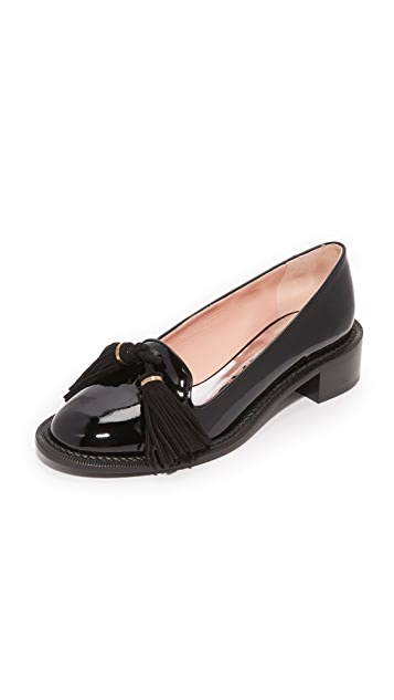 Rochas Leather Flats