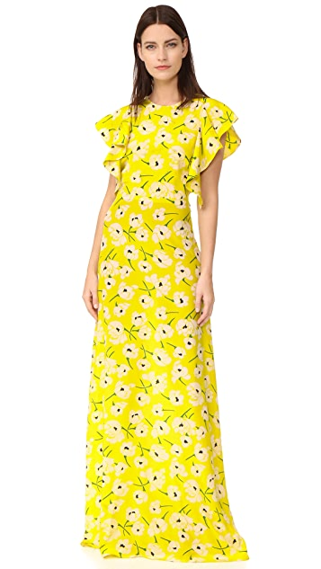 Rochas Printed Gown