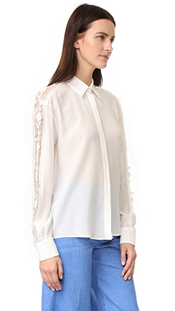 Rochas Button Down Blouse