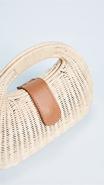 ROCIO Mandy Wicker Basket Bag