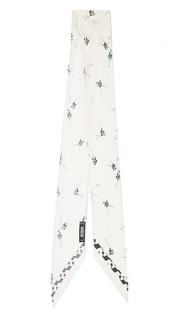 Rockins Очень узкий шарф Fleur De Pop