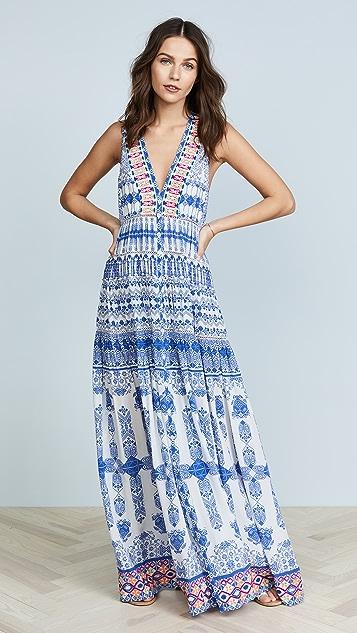 ROCOCO SAND Ionic Long Dress - Blue