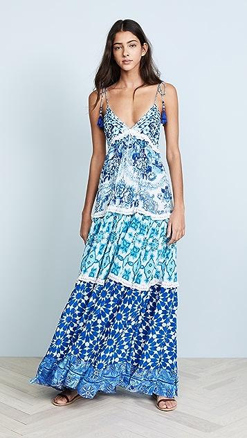 ROCOCO SAND Oriental Labyrinth Dress - Blue
