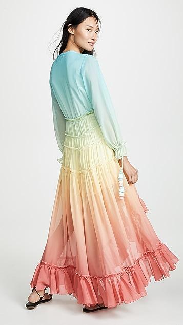ROCOCO SAND 彩虹连衣裙