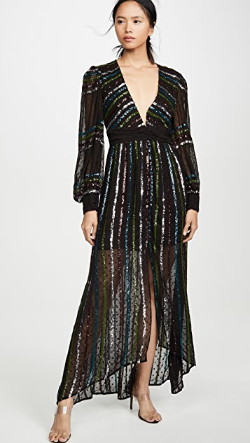 ROCOCO SAND Длинное платье с блестками